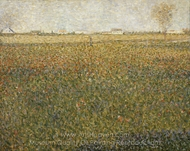 La Luzerne, Saint-Denis painting reproduction, Georges Seurat