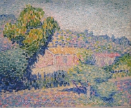 La Maison Rose painting reproduction, Henri Edmond Cross