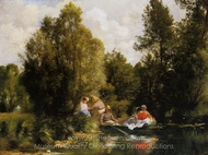 La Mare aux Fees painting reproduction, Pierre-Auguste Renoir