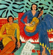La Musique painting reproduction, Henri Matisse