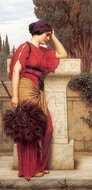 La Pensierosa painting reproduction, John William Godward
