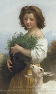 La Petite Esmeralda painting reproduction, William A. Bouguereau