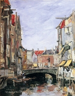 La Place Ary Scheffer, Dordrecht painting reproduction, Eugene-Louis Boudin