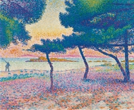 La Plage de Saint-Clair painting reproduction, Henri Edmond Cross