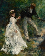 La Promenade (The Walk) painting reproduction, Pierre-Auguste Renoir