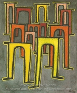 La Revolution des Viaducs painting reproduction, Paul Klee