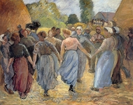 La Ronde painting reproduction, Camille Pissarro