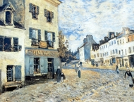 La Rue a Marly painting reproduction, Alfred Sisley