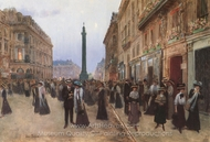 La Rue de la Paix painting reproduction, Jean Beraud