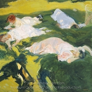 La Siesta painting reproduction, Joaquin Sorolla