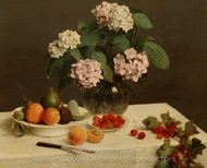 La Table Garnie painting reproduction, Henri Fantin-Latour