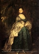 Lady Alston painting reproduction, Thomas Gainsborough