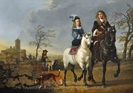 Lady and Gentleman on Horseback painting reproduction, Aelbert Cuyp