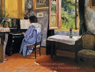 Lady at the Piano painting reproduction, Felix Vallotton