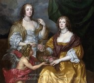Lady Elizabeth Thimbelby and Her Sister painting reproduction, Sir Anthony Van Dyck
