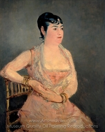 Lady in Pink painting reproduction, �douard Manet