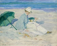 Lady on a Beach painting reproduction, Frederick Carl Frieseke