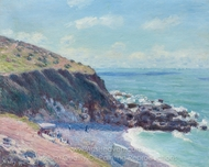 Lady's Cove, Langland Bay, Le Matin painting reproduction, Alfred Sisley