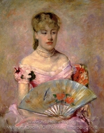 Lady with a Fan painting reproduction, Mary Cassatt