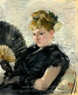 Lady with a Fan painting reproduction, Berthe Morisot