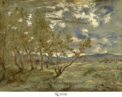 Theodore Rousseau, Landscape oil painting reproduction