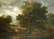 Landscape painting reproduction, British Painter