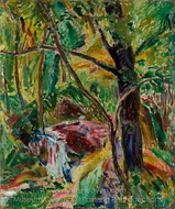Landscape painting reproduction, Alfred Henry Maurer