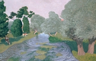 Landscape Arques La Bataille painting reproduction, Felix Vallotton