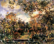 Landscape at Beaulieu painting reproduction, Pierre-Auguste Renoir