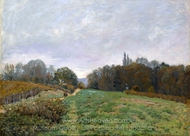 Landscape at Louveciennes painting reproduction, Alfred Sisley