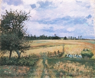 Landscape at Pontoise painting reproduction, Camille Pissarro