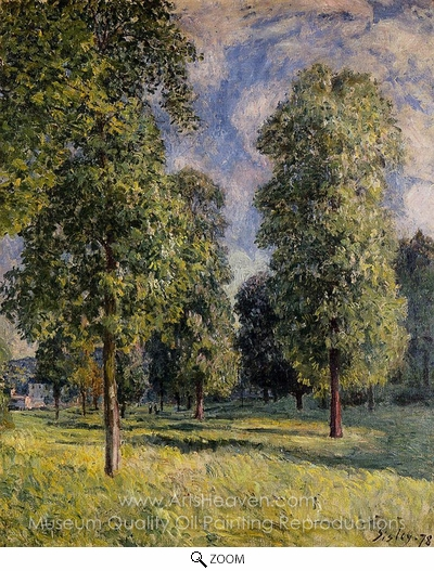 Alfred Sisley, Landscape at Sevres oil painting reproduction
