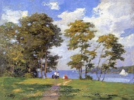Landscape by the Shore painting reproduction, Edward Henry Potthast