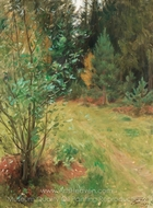 Landscape from Gopsmor painting reproduction, Anders Zorn