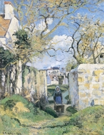 Landscape from Pontoise painting reproduction, Camille Pissarro