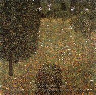 Landscape Garden (Meadow in Flower) painting reproduction, Gustav Klimt