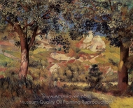 Landscape in La Roche-Guyon painting reproduction, Pierre-Auguste Renoir