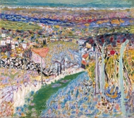Landscape in the South (Le Cannet) painting reproduction, Pierre Bonnard