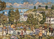 Landscape Near Nahant painting reproduction, Maurice Prendergast