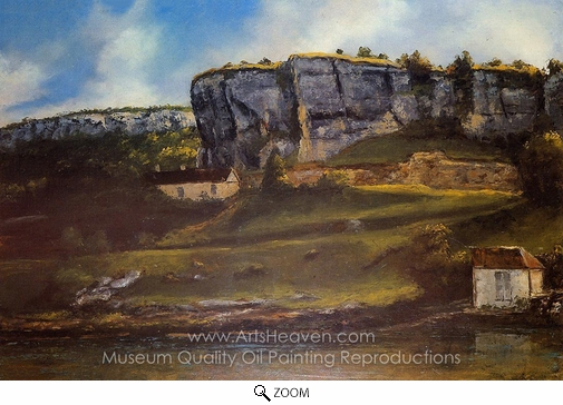 Gustave Courbet, Landscape of the Ornans Region oil painting reproduction