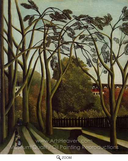 Henri Rousseau, Landscape on the Banks of the Bievre at Becetre, Spring oil painting reproduction