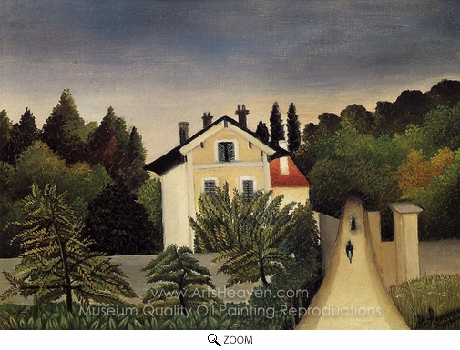 Henri Rousseau, Landscape on the Banks of the Oise, Area of Chaponval oil painting reproduction