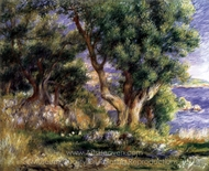 Landscape on the Coast, Near Menton painting reproduction, Pierre-Auguste Renoir