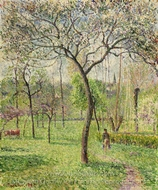 Landscape (Orchard) painting reproduction, Camille Pissarro