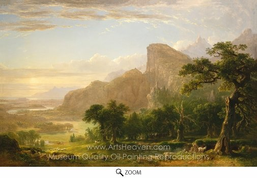Asher Brown Durand, Landscape Scene from Thanatopsis oil painting reproduction