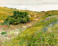 Landscape, Shinnecock Hills painting reproduction, William Merritt Chase