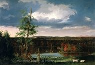 Landscape, the Seat of Mr. Featherstonhaugh in the Distance painting reproduction, Thomas Cole