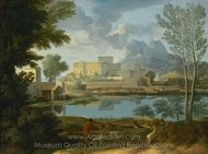 Landscape with a Calm painting reproduction, Nicolas Poussin