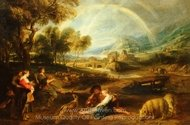 Landscape with a Rainbow painting reproduction, Peter Paul Rubens