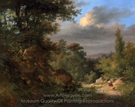 Landscape with a Shepherd painting reproduction, French Painter